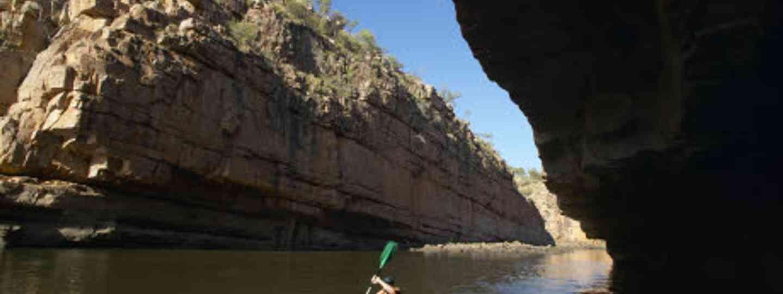 Explore Nitmiluk Gorge by canoe (Image: Tourism NT)