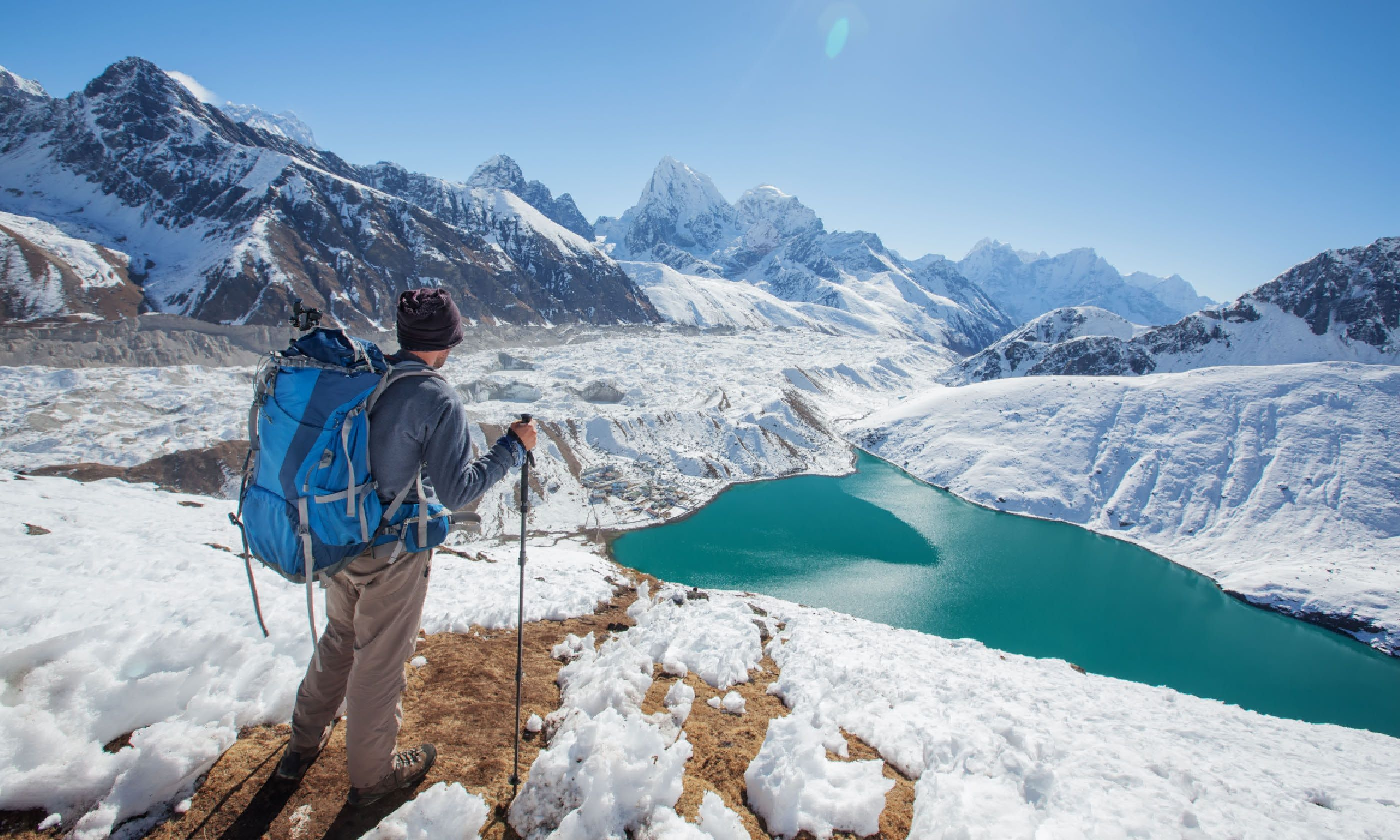 Hiker in the Himalayas (Shutterstock)