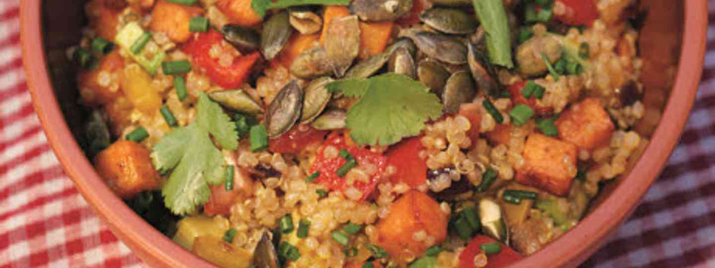 Quinoa salad - one of five tasty feasts from Chile