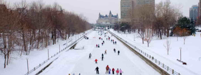 Rideau Canal in winter, Ottawa (Dreamstime)