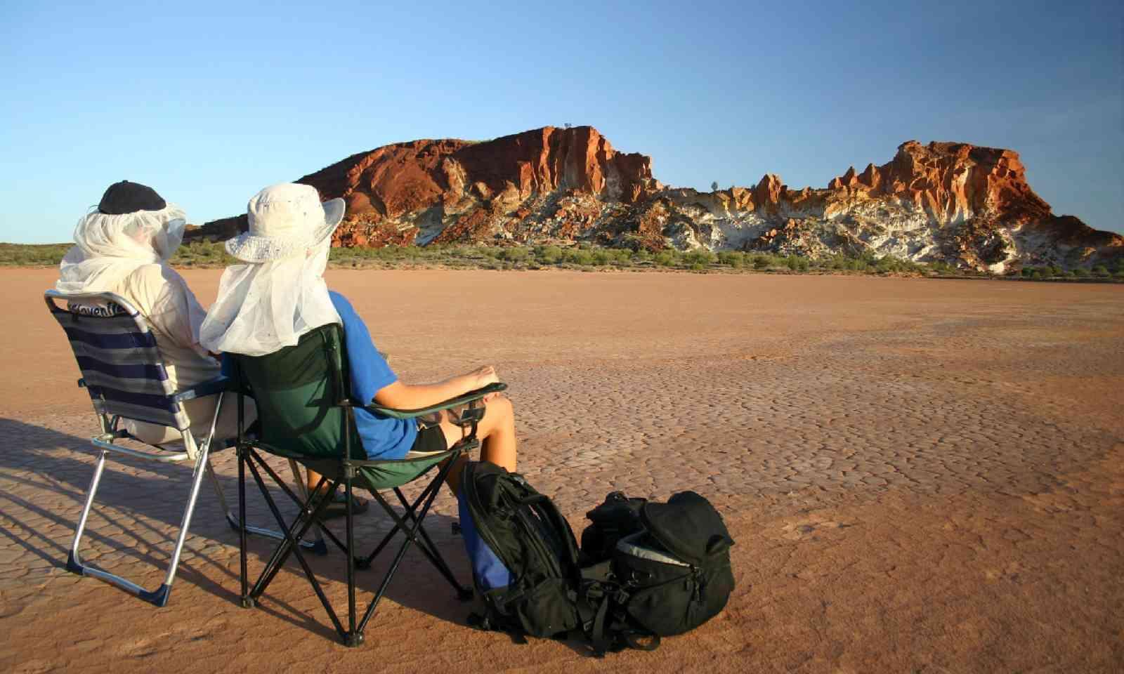 Trekkers in Rainbow valley, Northern Territory (Shutterstock)