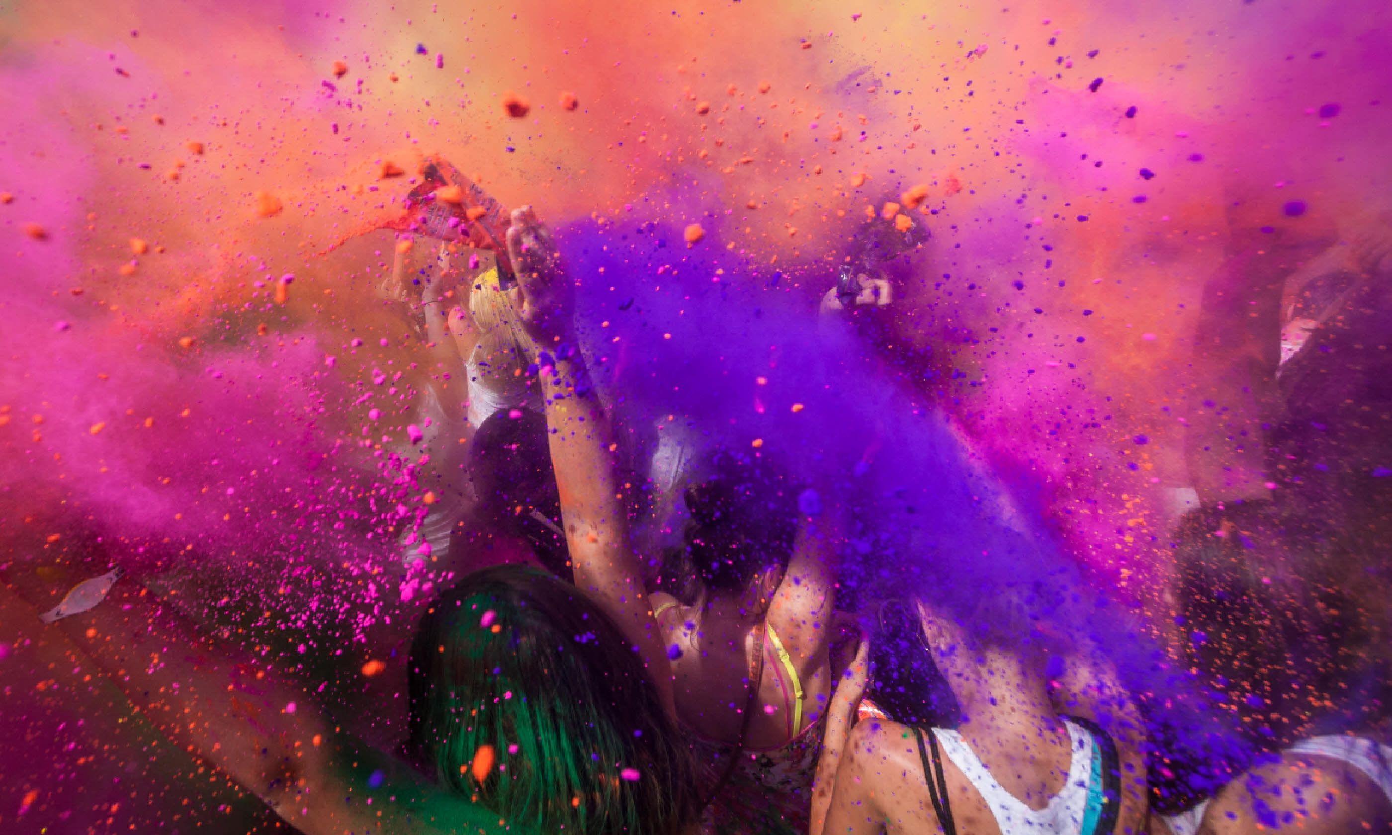 Holi colour festival (Shutterstock)