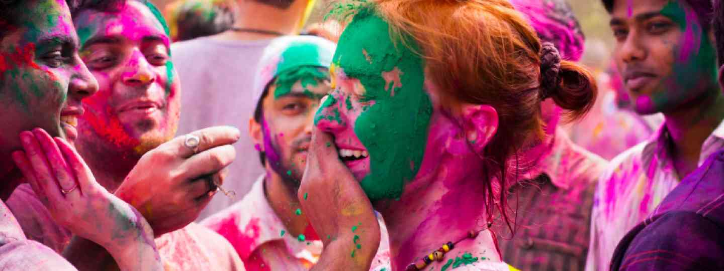 Holi in Delhi, India (Shutterstock: see below)