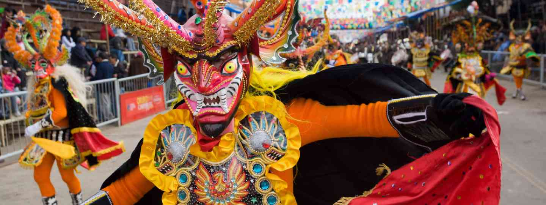 Dancers at Oruro Carnival in Bolivia (Shutterstock: see credit below)
