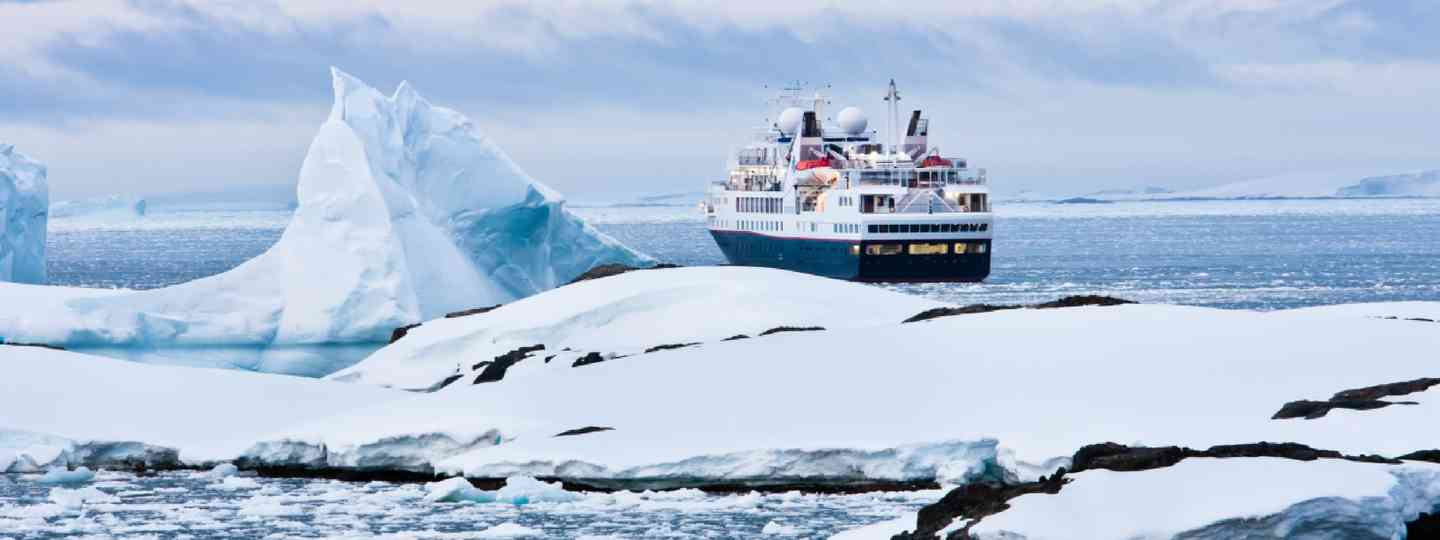 Big cruise ship in Antarctic waters (Shutterstock)