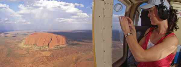 See Uluru from a small plane or helicopter (Supplied: Tourism NT)