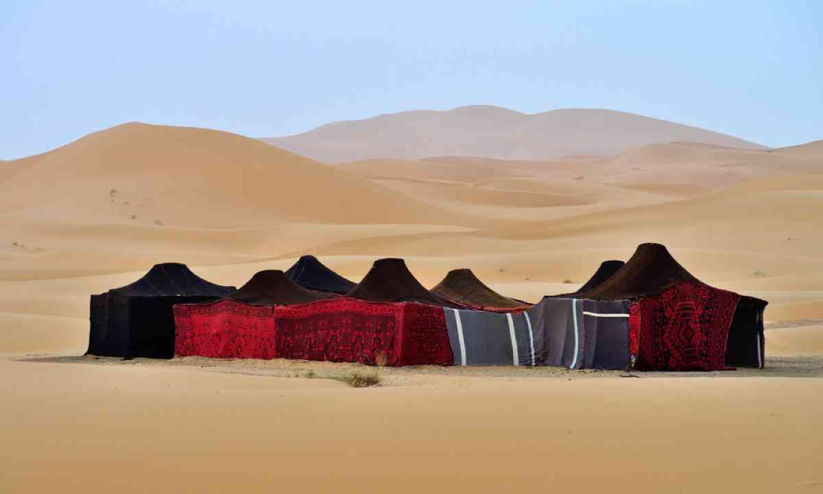 Berber tents in the Sahara, Morocco (Shutterstock)