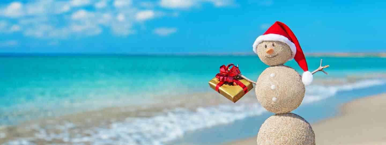 Smiley sandy snowman (Shutterstock: see credit below)