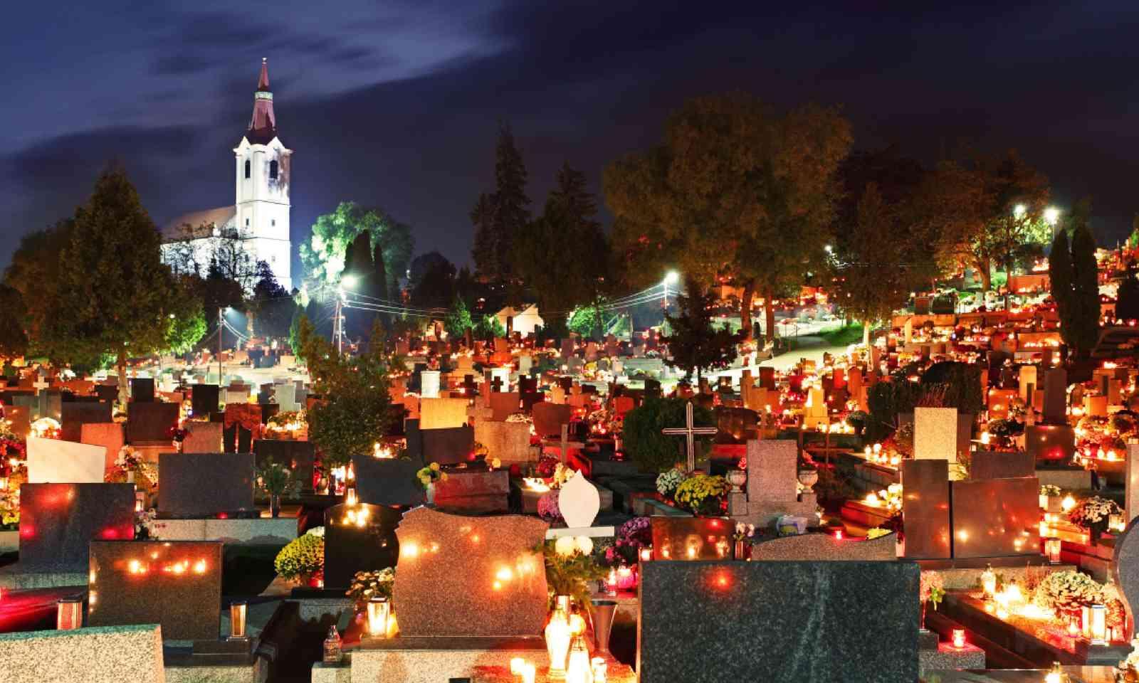 Cemetery at night, Finland (Shutterstock)