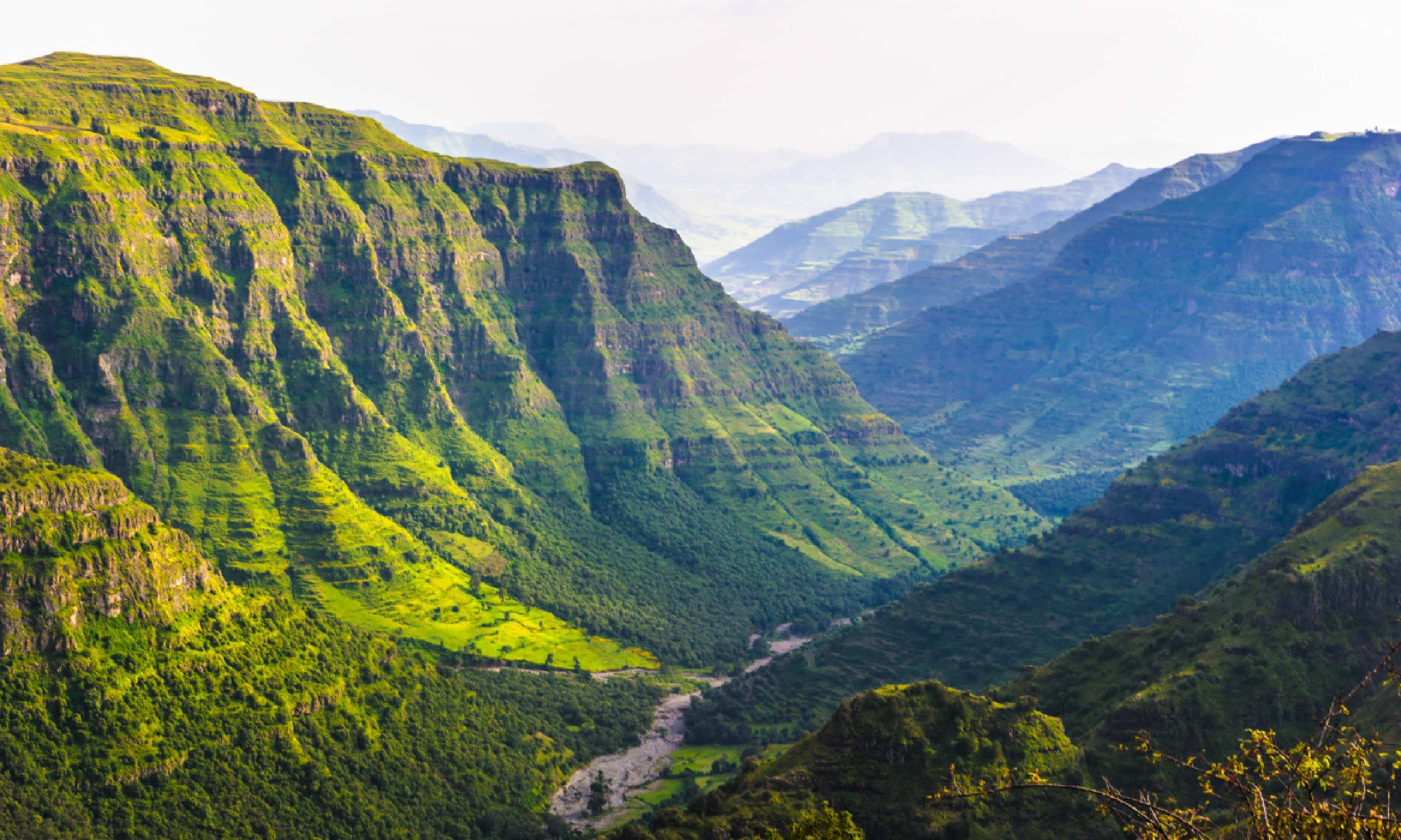 Valley among the mountains in Ethiopia (Shutterstock)