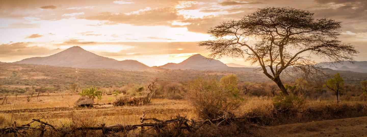 Evening view of the territory of the tribe Bana in Ethiopia (Shutterstock: see credit below)