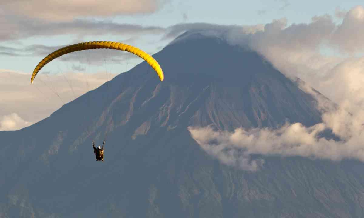 Paragliding over Tungurahua volcano in Ecuador (Shutterstock)