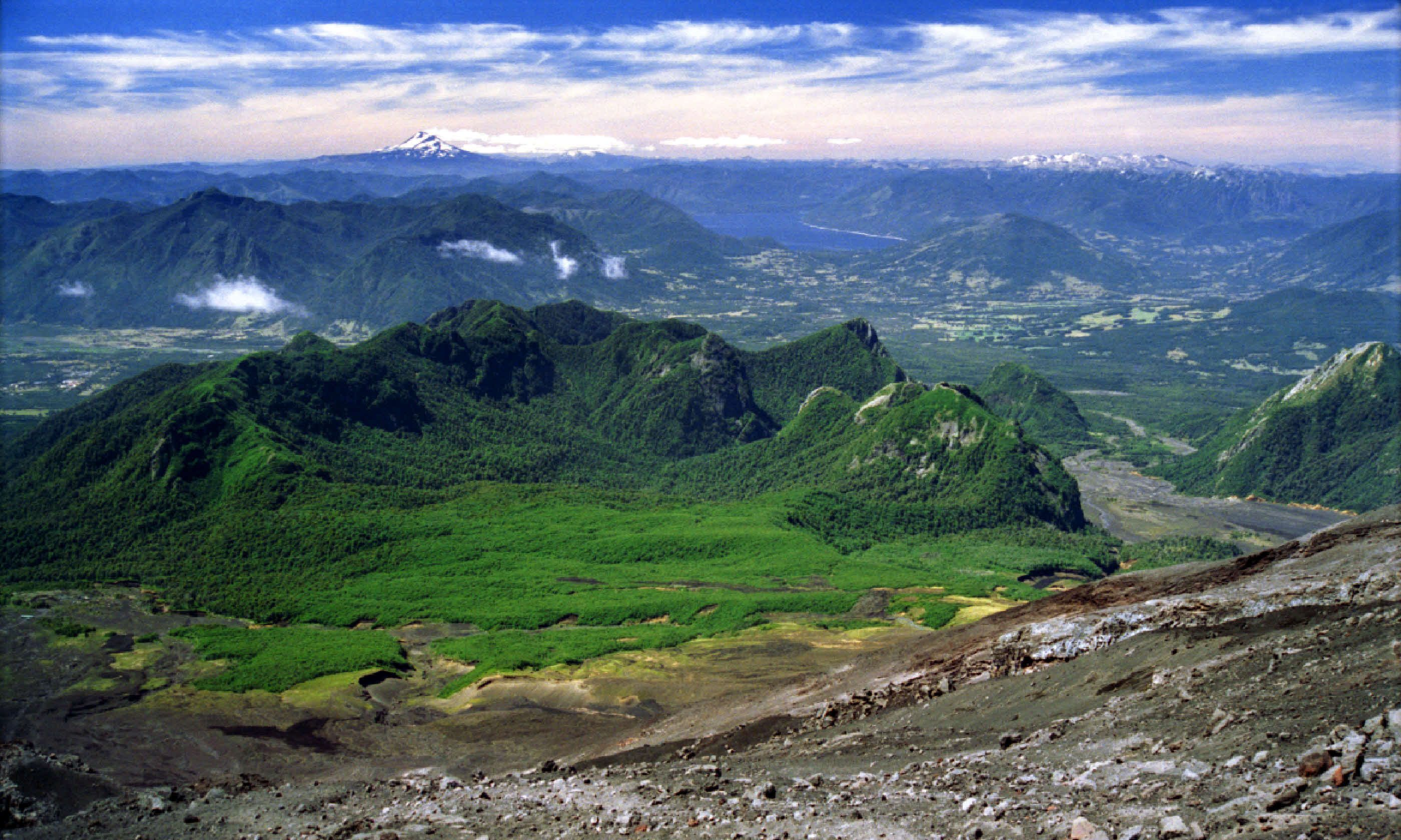 View from Villarrica volcano, Chile (Shutterstock)