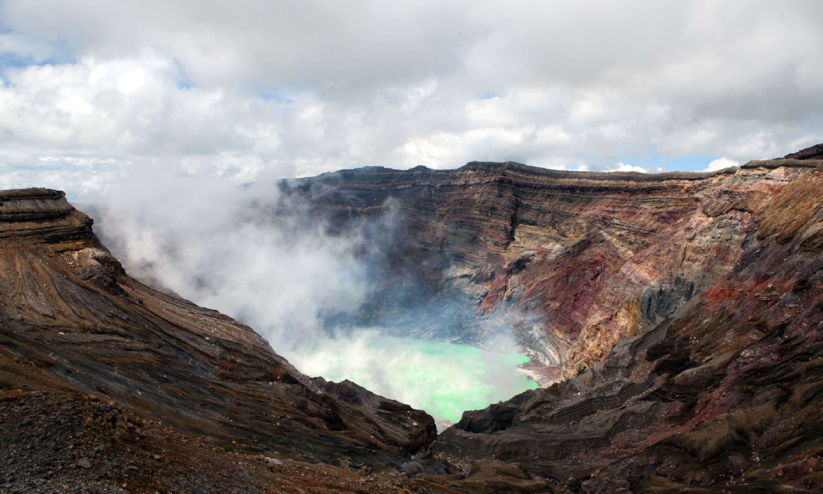 Crater of the volcano Aso, Japan (Shutterstock)