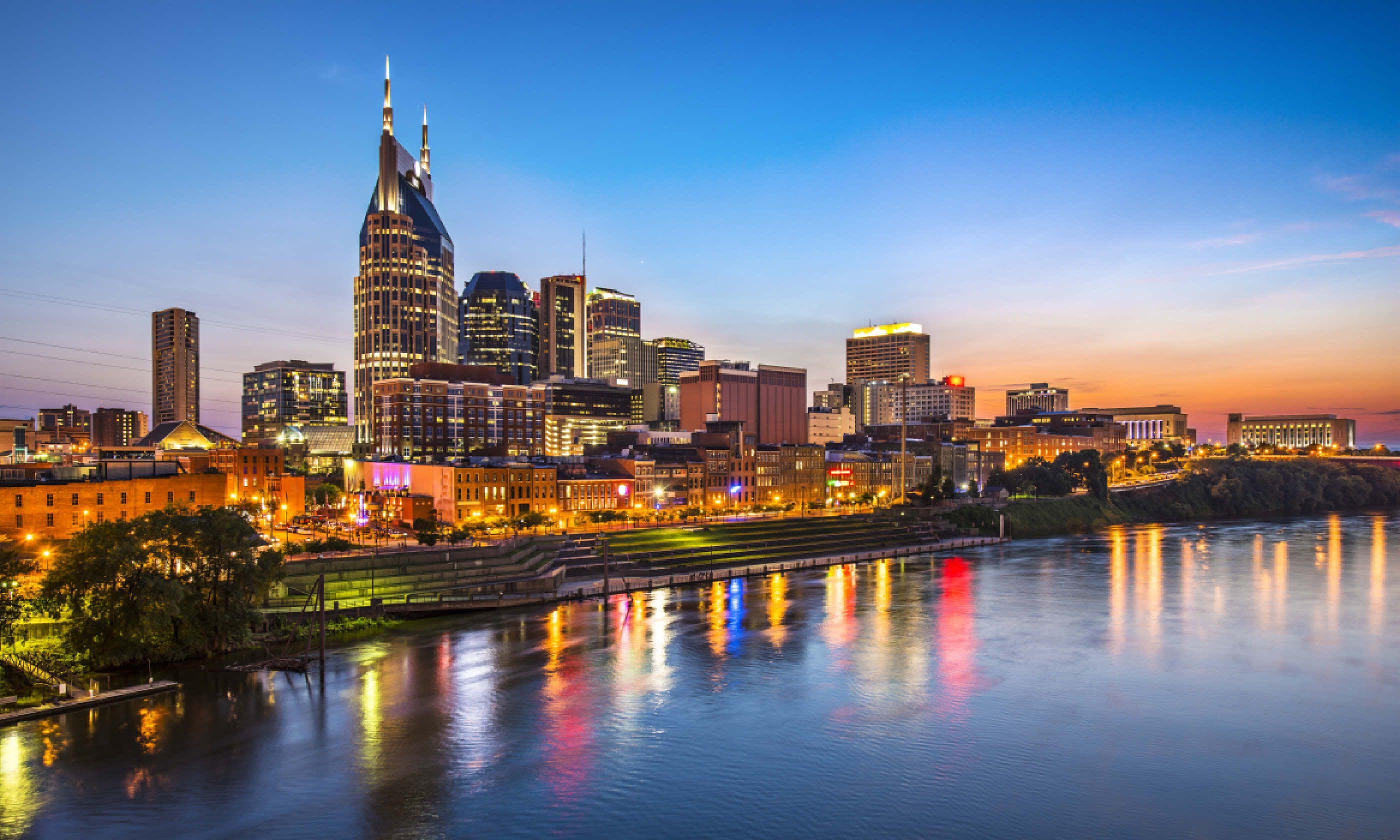 Skyline of downtown Nashville, Tennessee (Shutterstock)