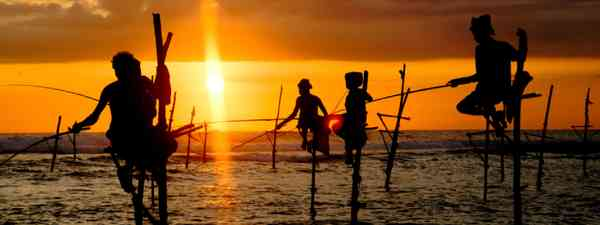 Sri Lanka, local fisherman is fishing in unique style (Shutterstock: see credit below)