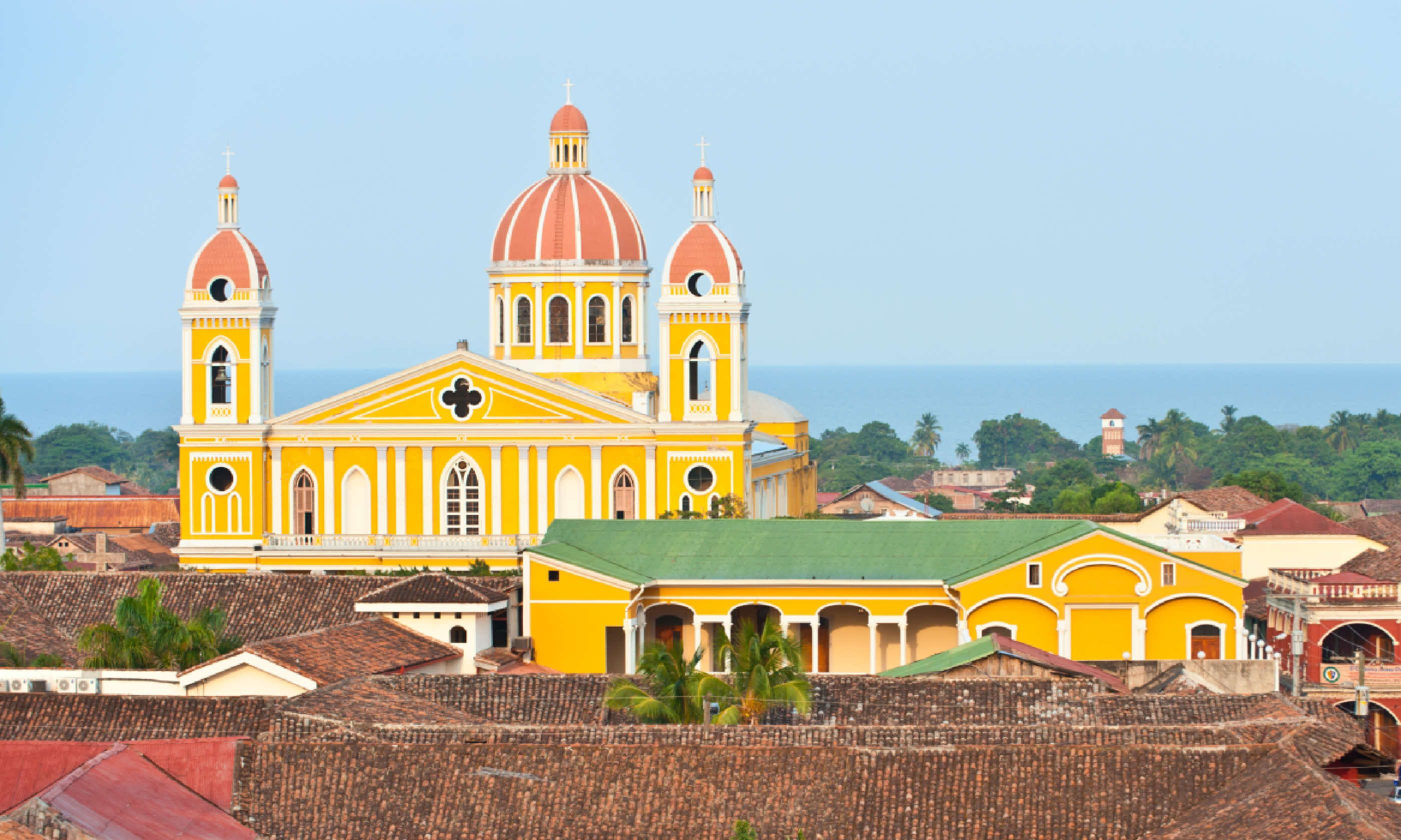 Granada cathedral and Lake Nicaragua (Shutterstock)