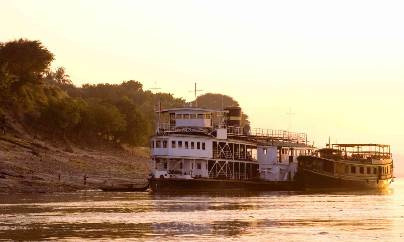 Sunset on the Irrawaddy (Shutterstock)