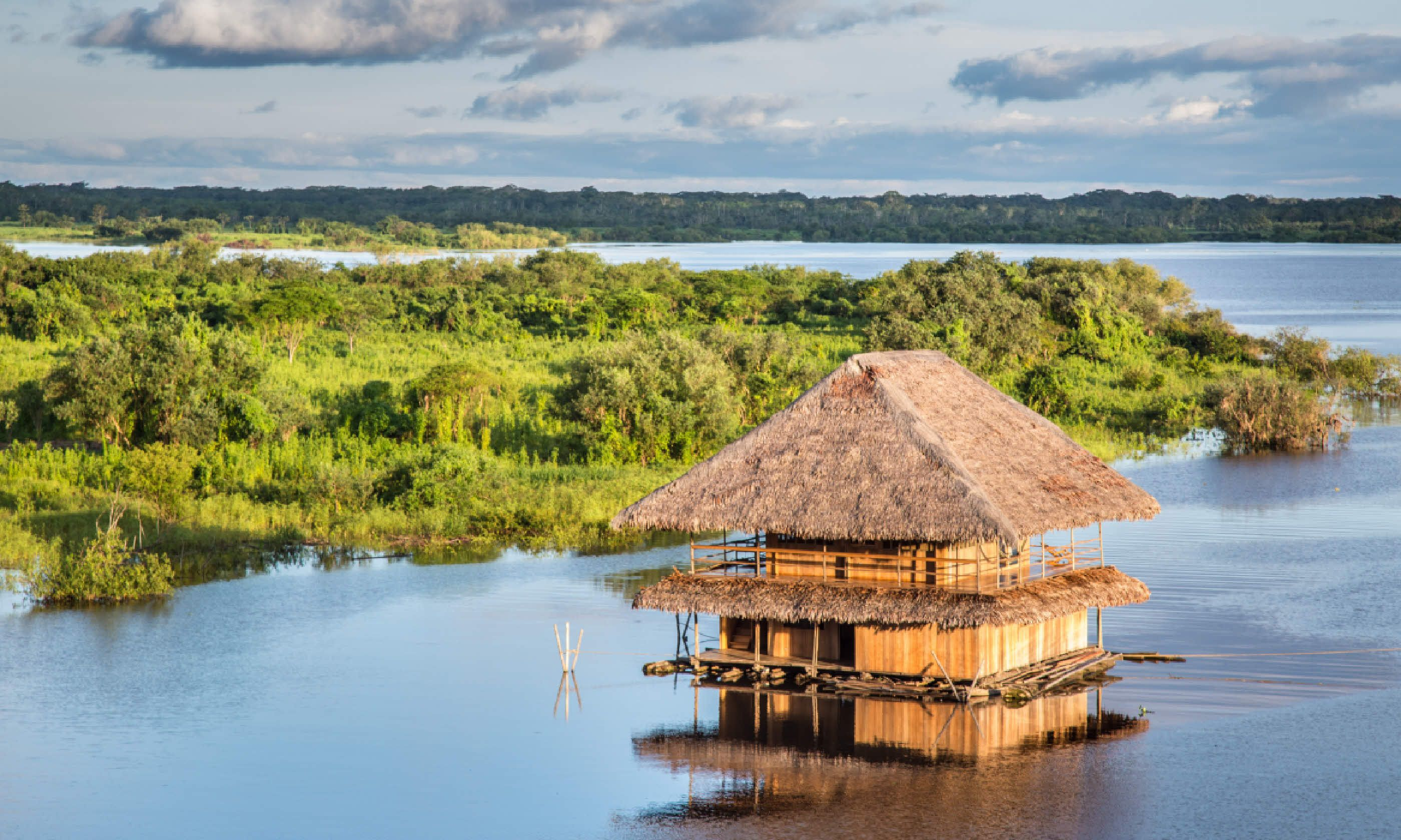 Traditional house on the Amazon river in Iquitos (Shutterstock)