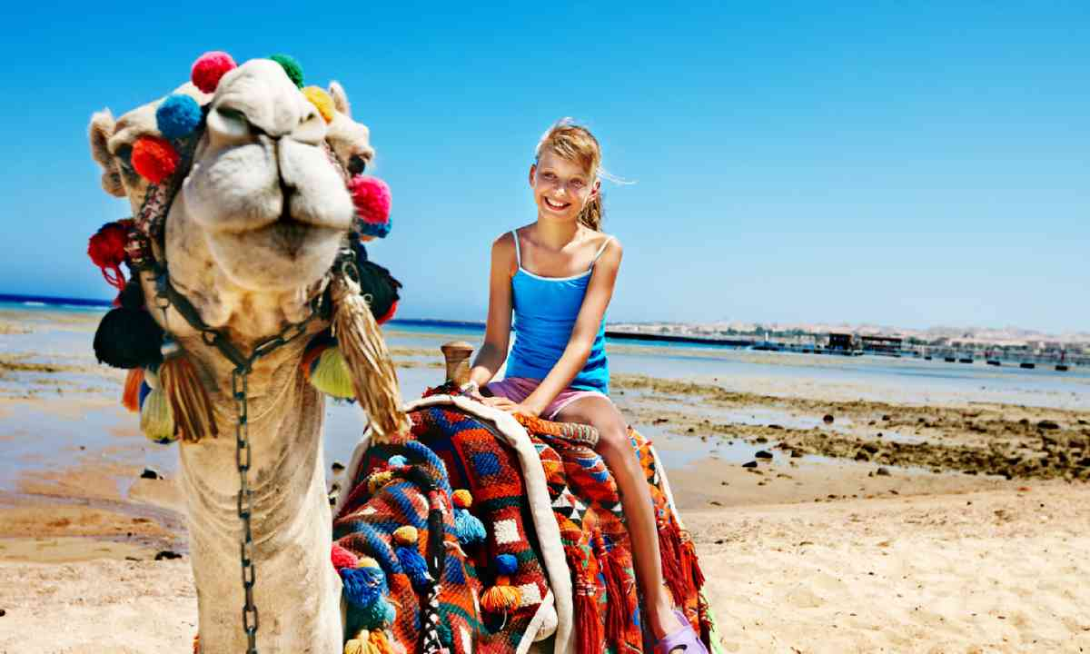 Riding a camel in Egypt (Shutterstock)
