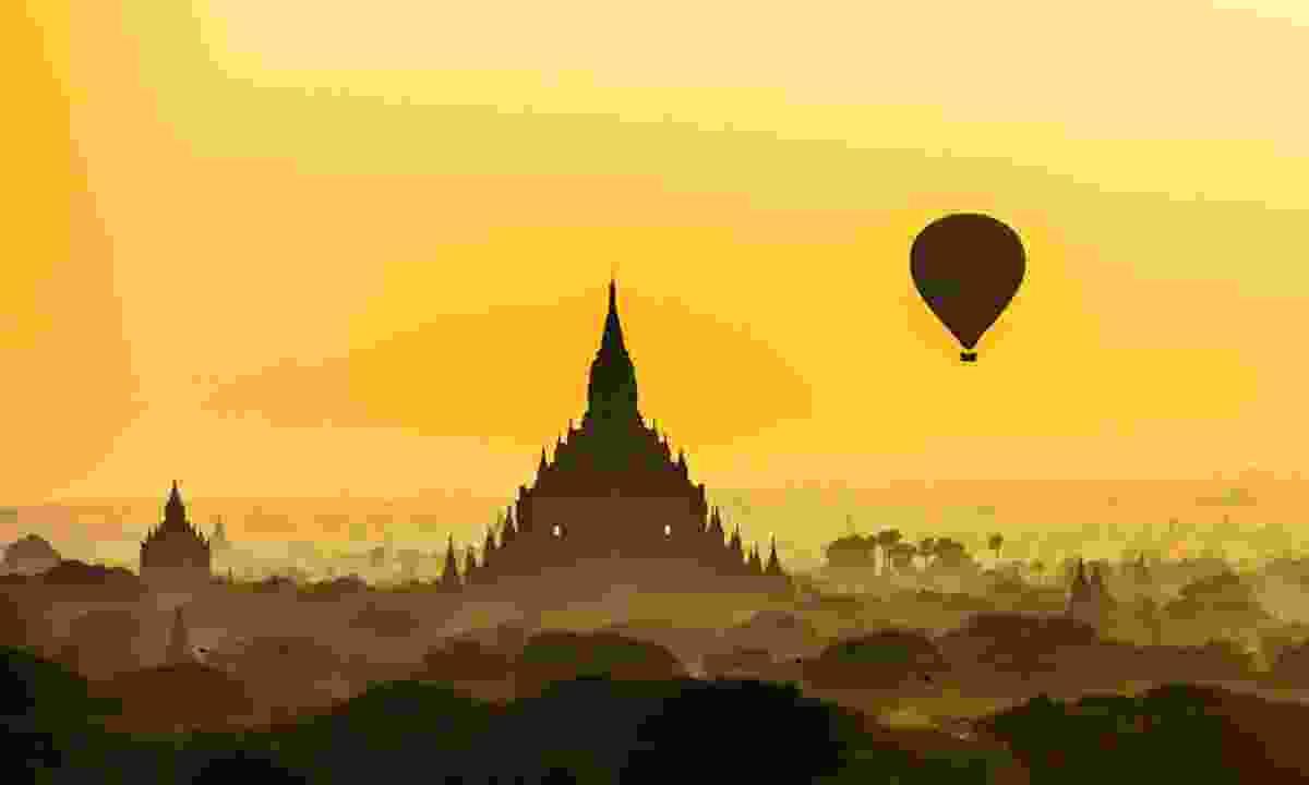 Balloons over Bagan, Burma (Shutterstock)