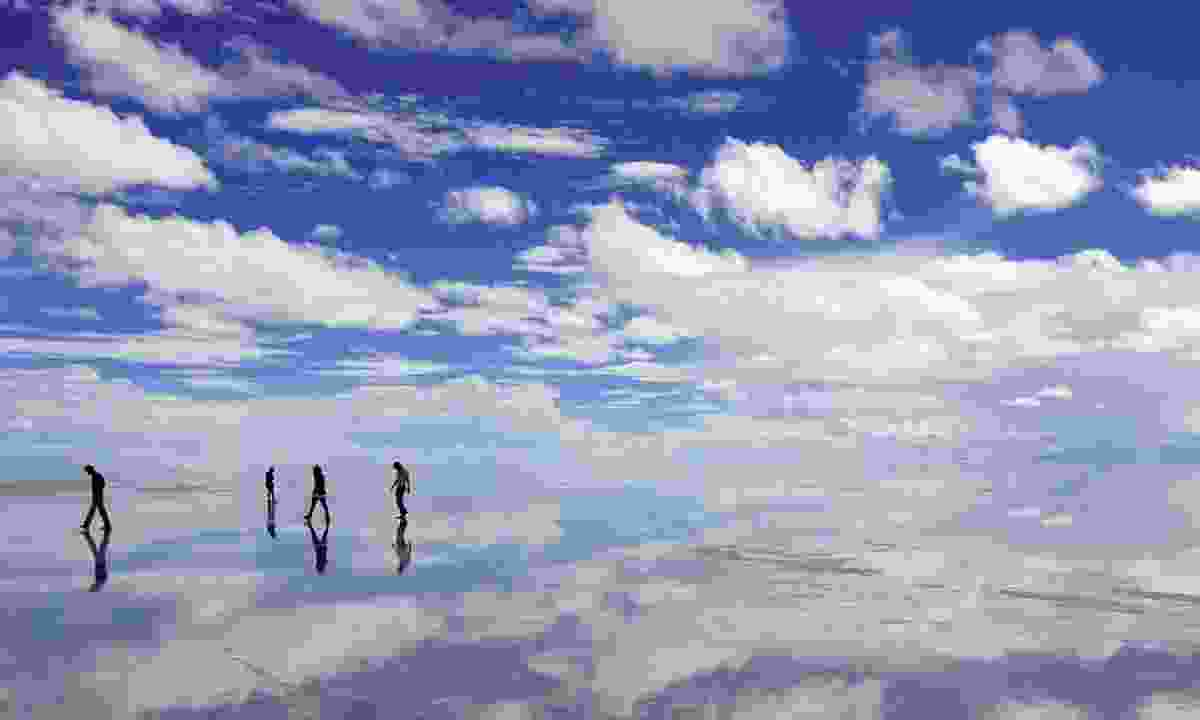 Walking on the mirrored salt flats (Audley)