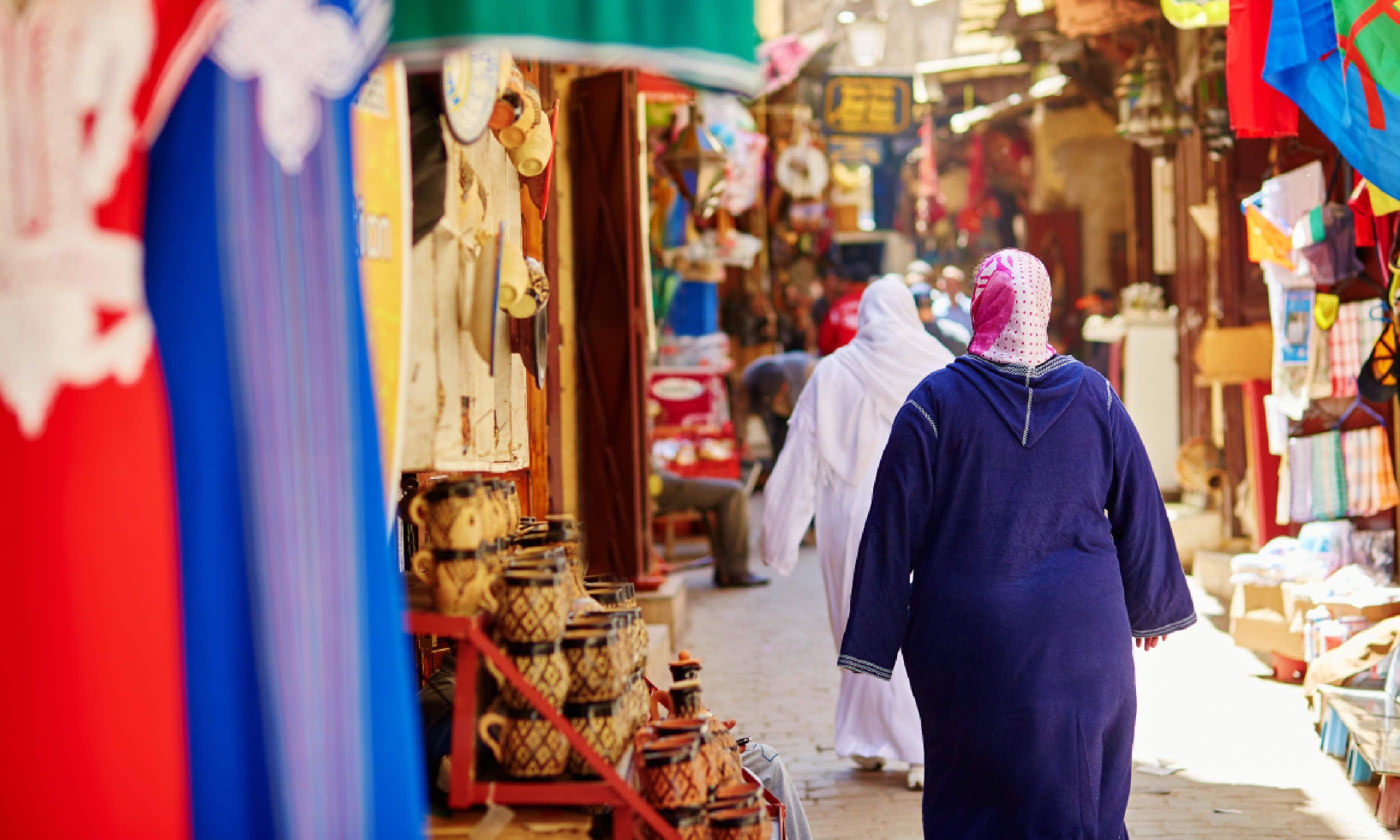 Souk in Fes, Morocco (Shutterstock)