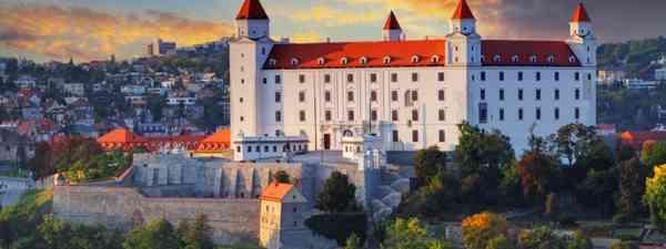 Bratislava Castle at sunset (Shutterstock: see credit below)