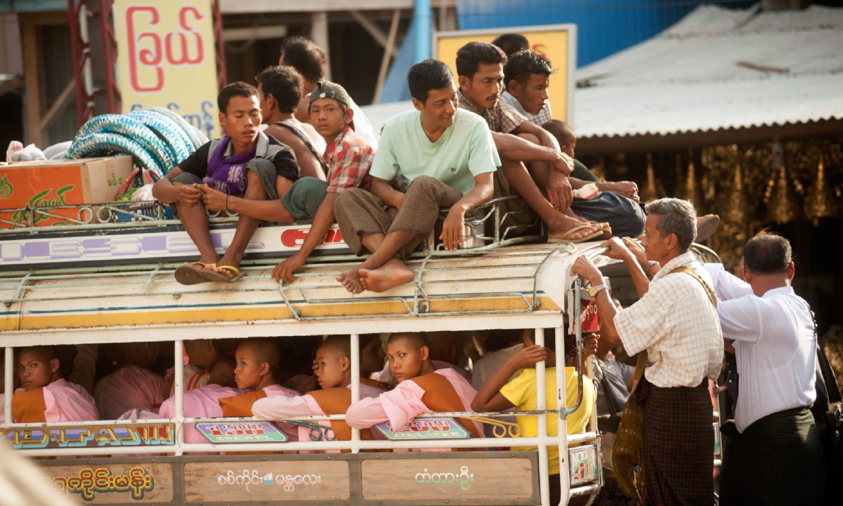 Bus in Myanmar (Shutterstock)
