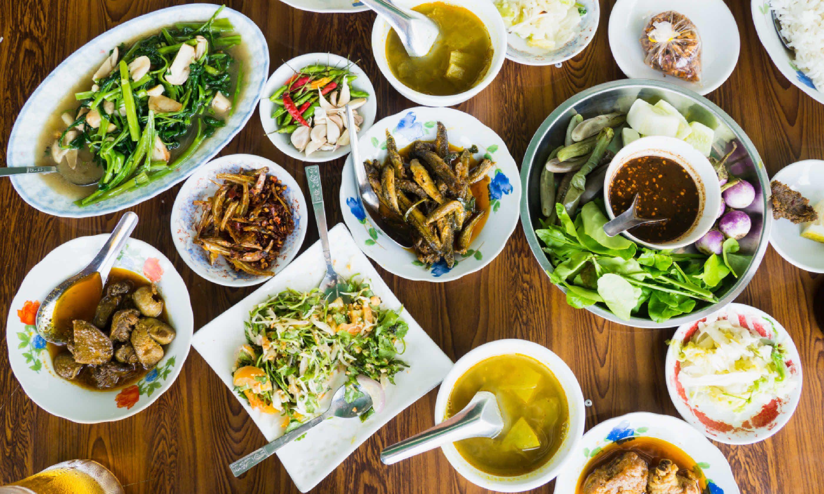 Restaurant table in Burma (Shutterstock)