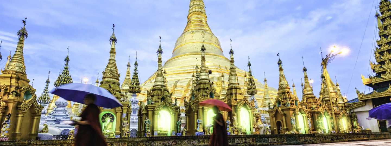 Shwedagon Pagoda in Yangon, Myanmar (Shutterstock: see credit below)