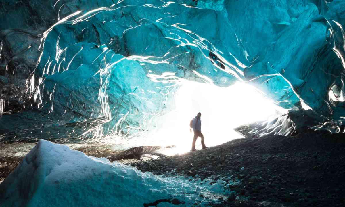 Inside an icecave in Vatnajokull, Iceland (Shutterstock)