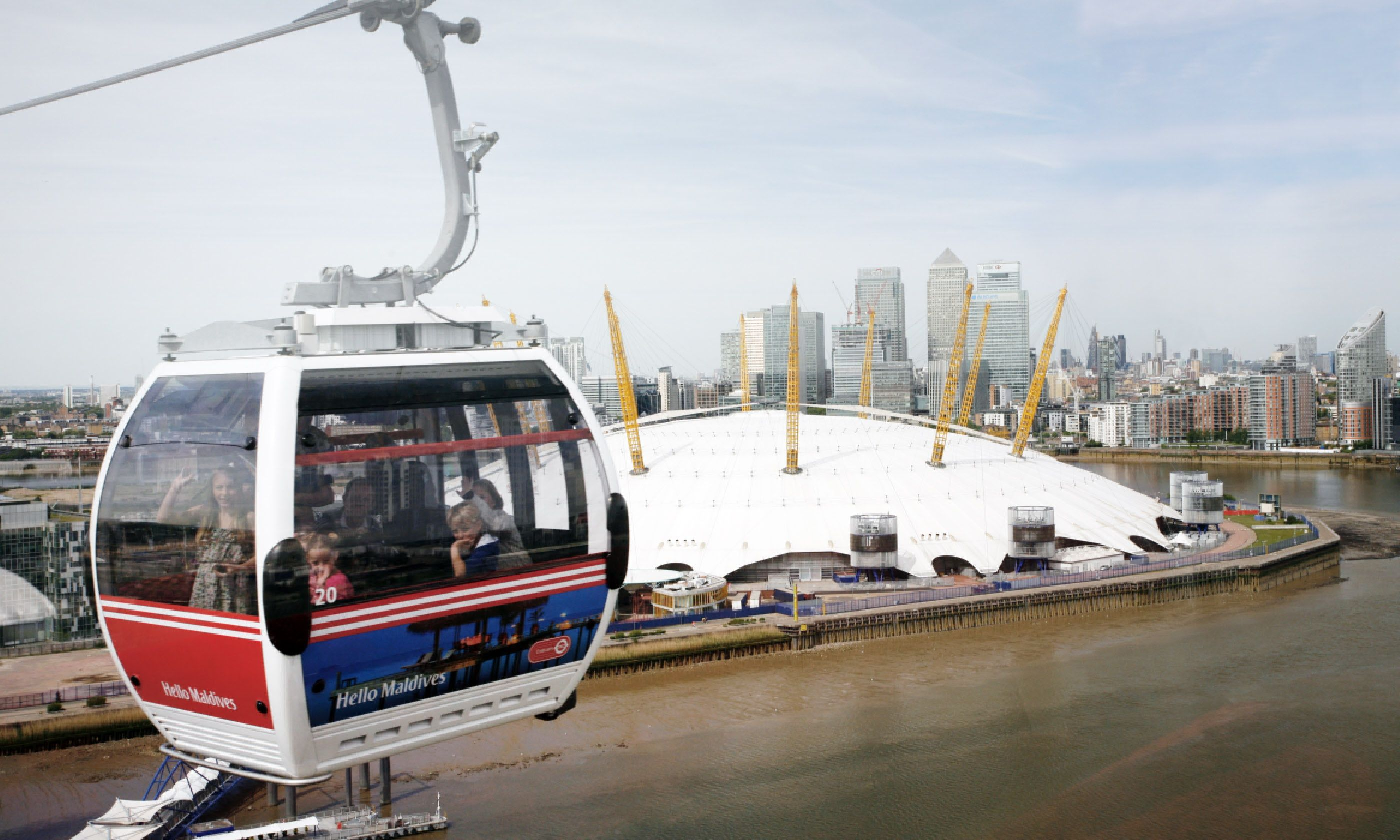 Gondolas of the Emirates Air Line cable car (Shutterstock)