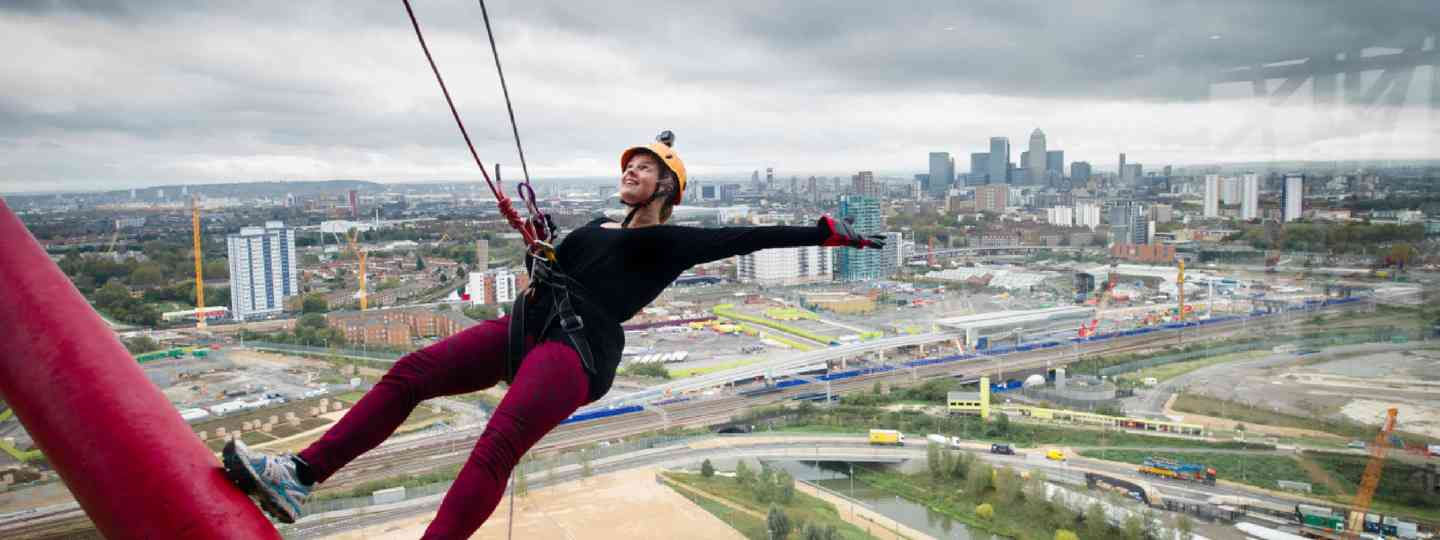 Abseiling on the Orbit tower (Photo: Mango PR)