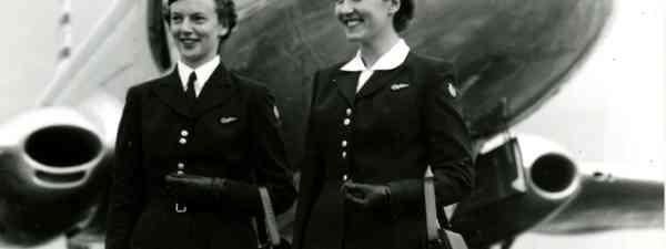 BOAC cabin crew, early 1950s (British Airways Heritage Museum)