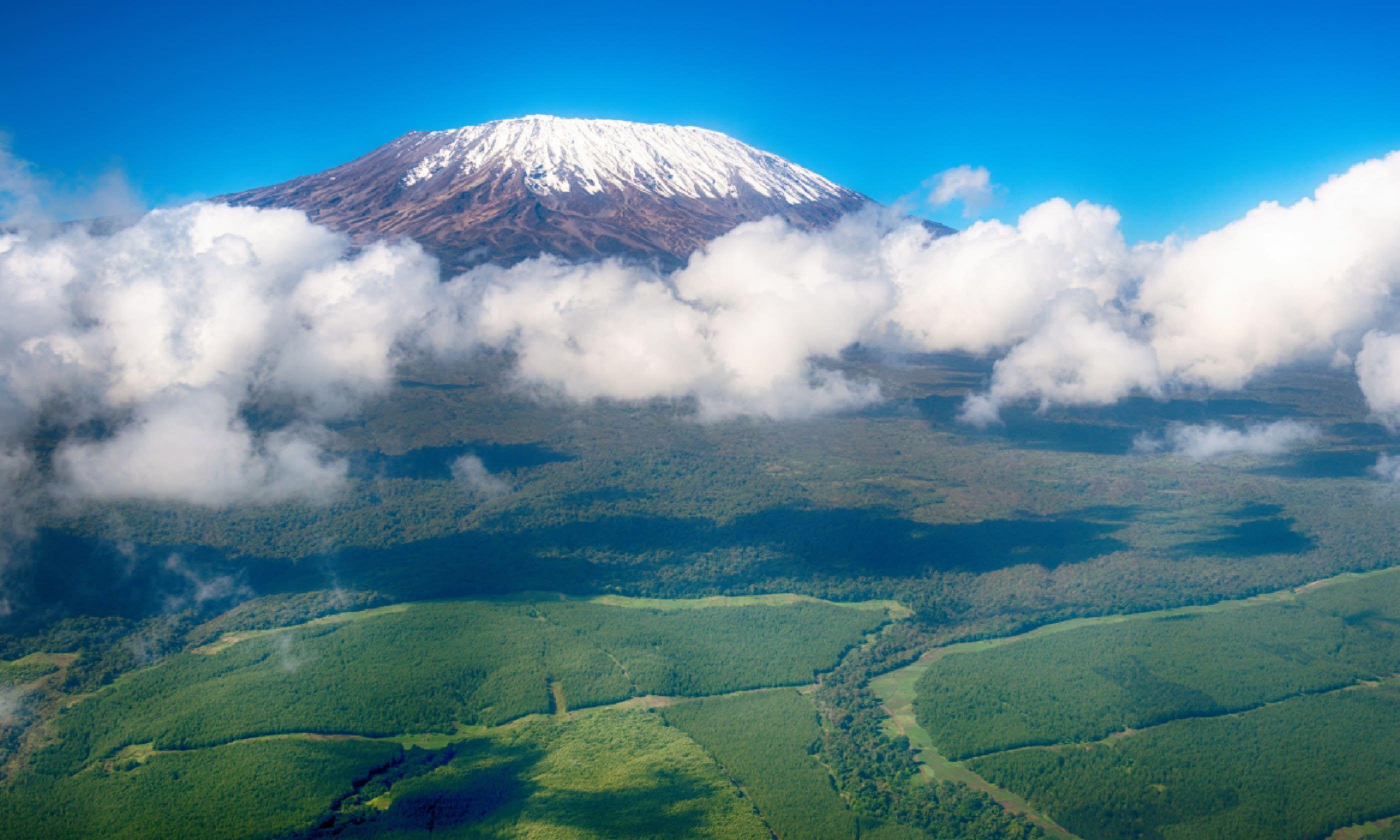 Aerial view of Mount Kilimanjaro (Shutterstock)