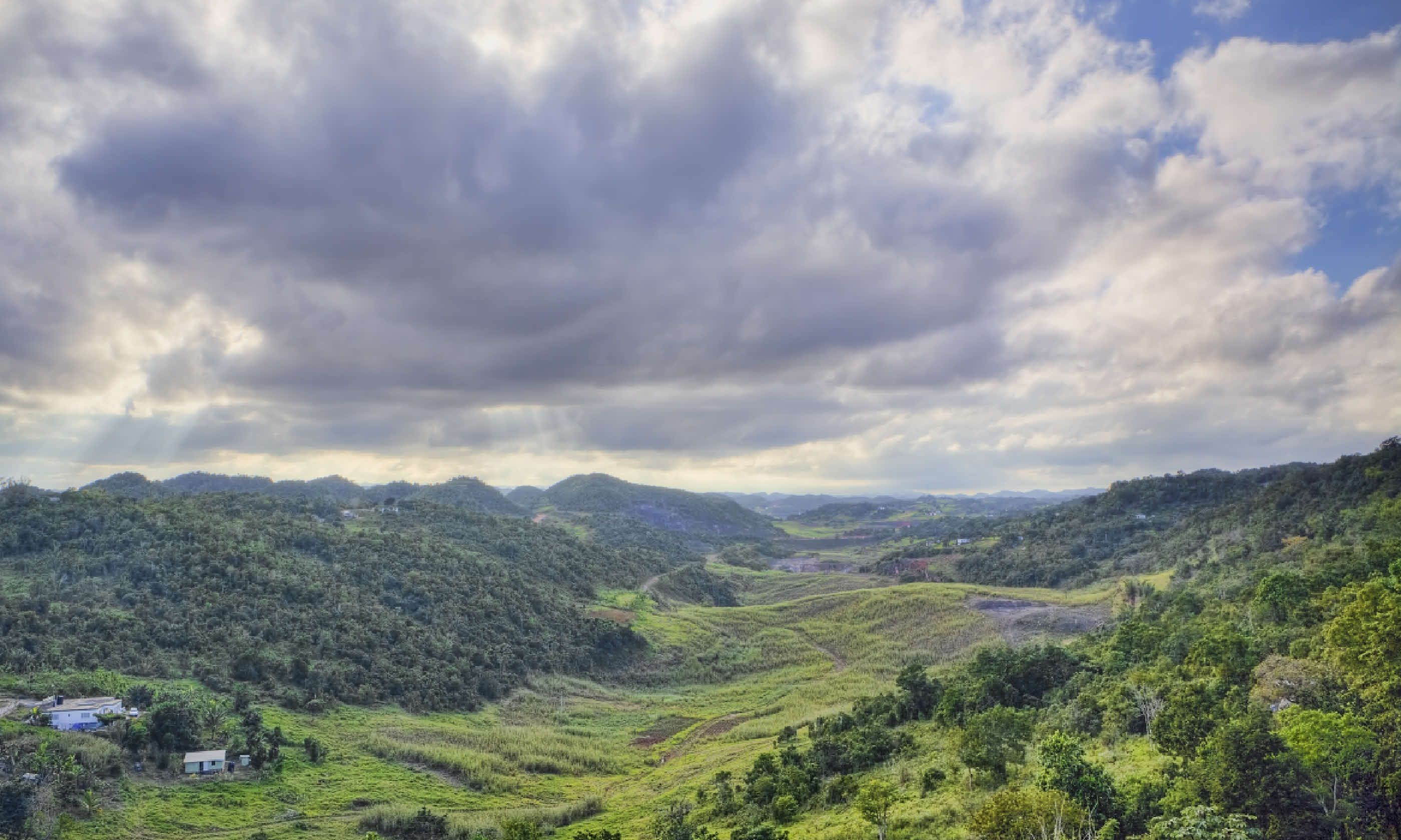 Sky over Jamaica's Cockpit Country (Shutterstock)