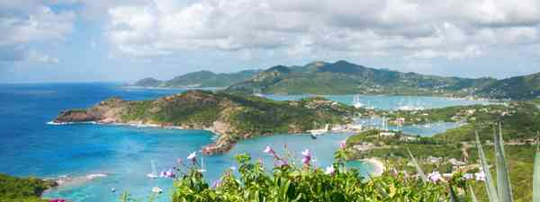 Falmouth bay - View from Shirley Heights, Antigua (Shutterstock)