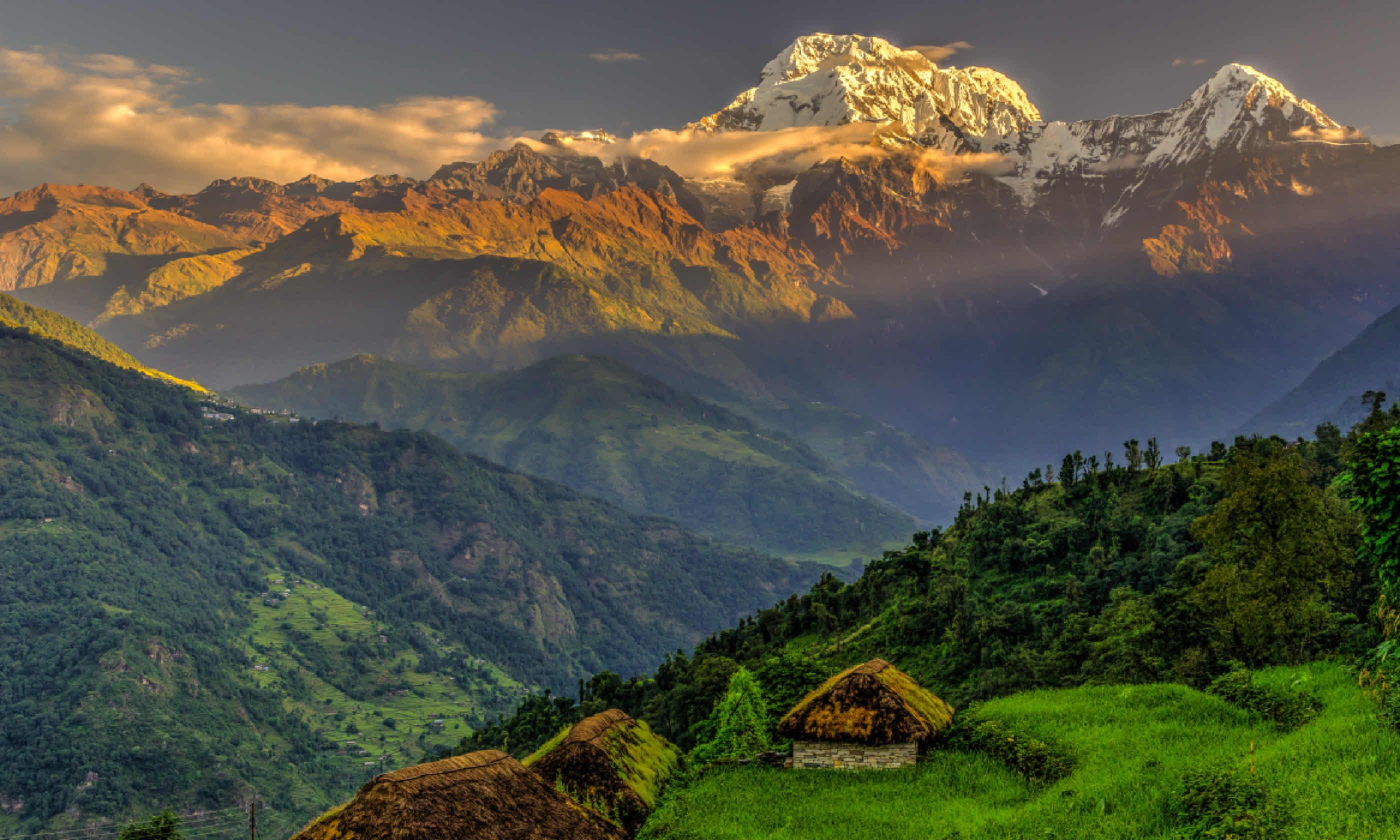 Annapurna South in the morning (Shutterstock)