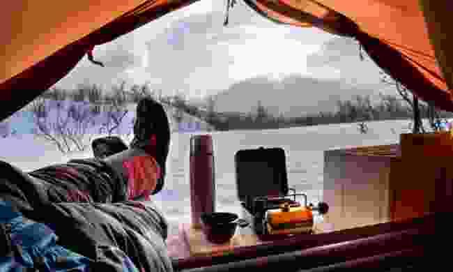 Winter camping in Abisko (Shutterstock)