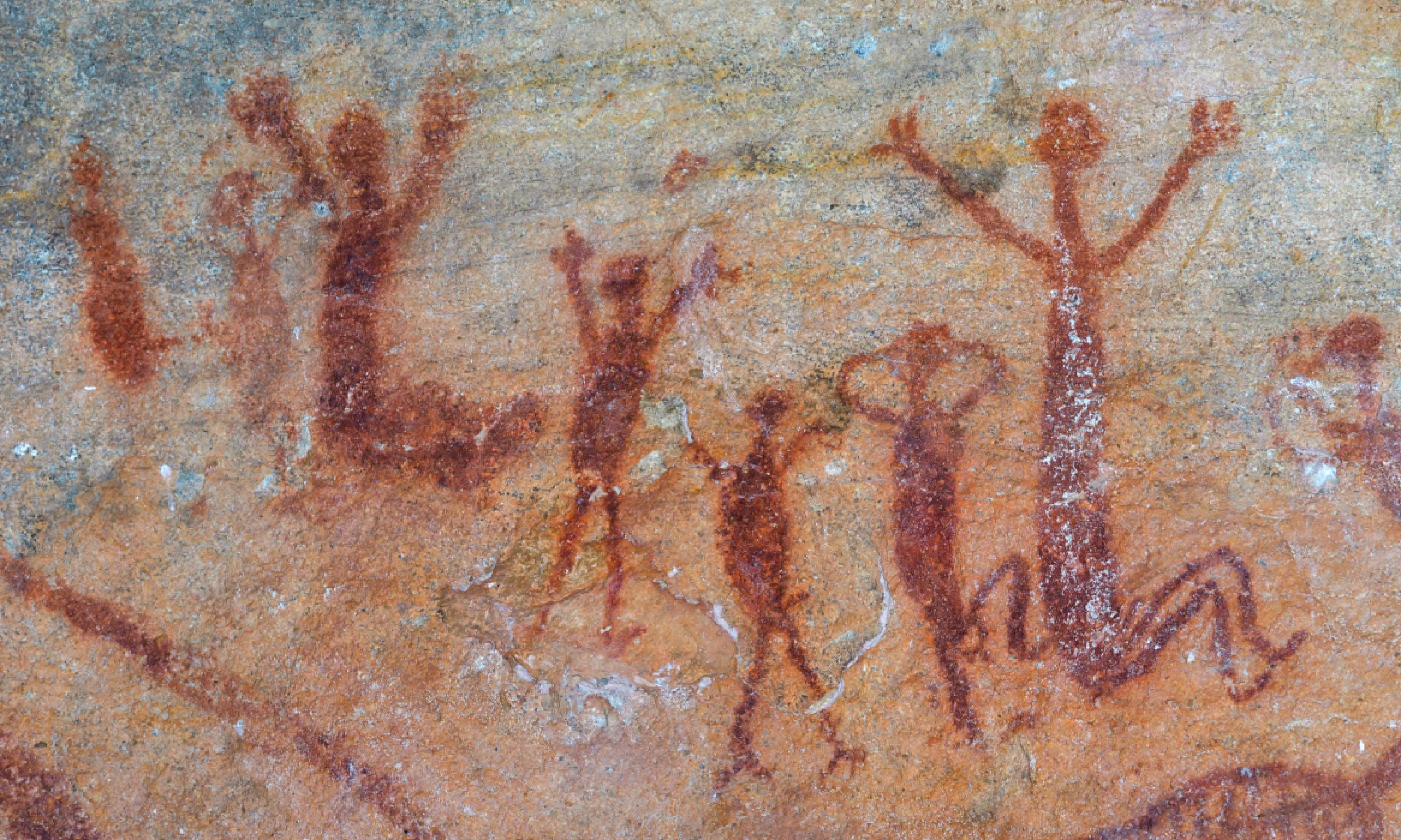 Rock paintings at Serra da Capivara National Park (Shutterstock)