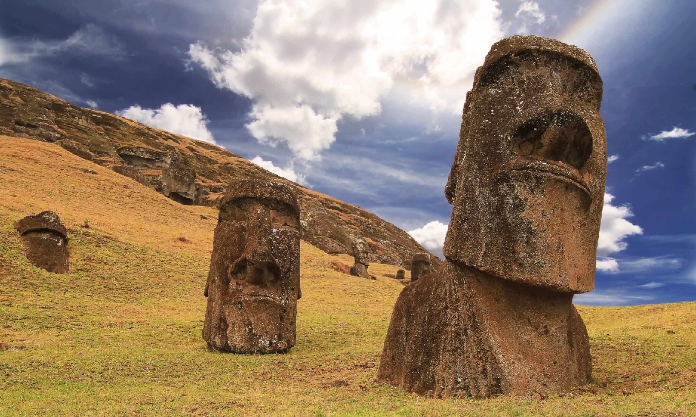 Rano raraku moai (Shutterstock)