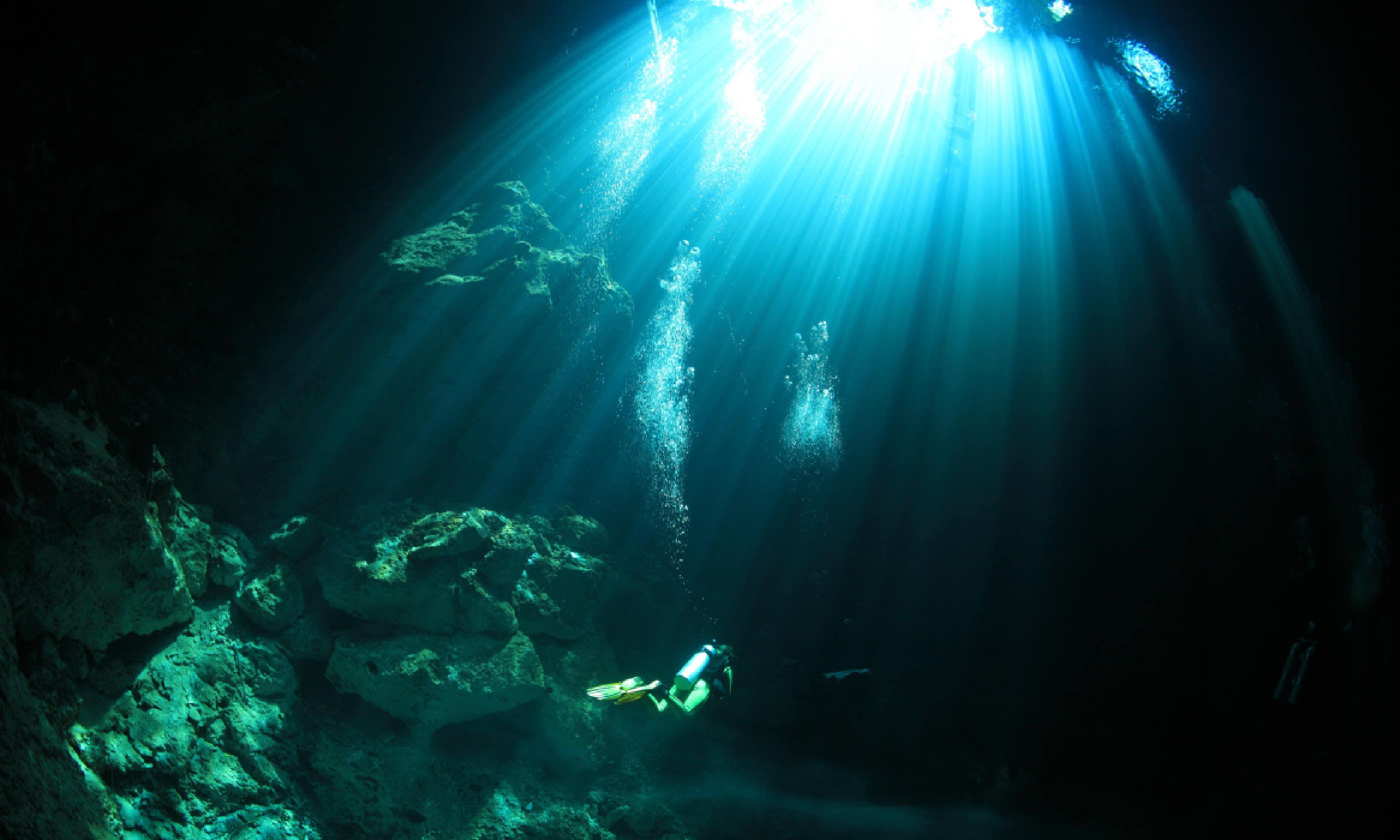 Diving in the cenote underwater caves (Shutterstock)