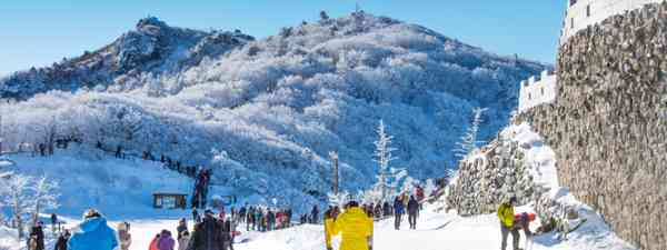 Skiing around Deogyusan, South Korea (Shutterstock)