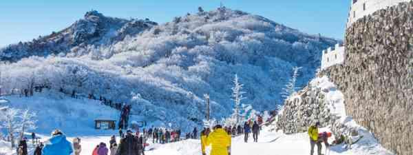 Skiing around Deogyusan, South Korea (Shutterstock)