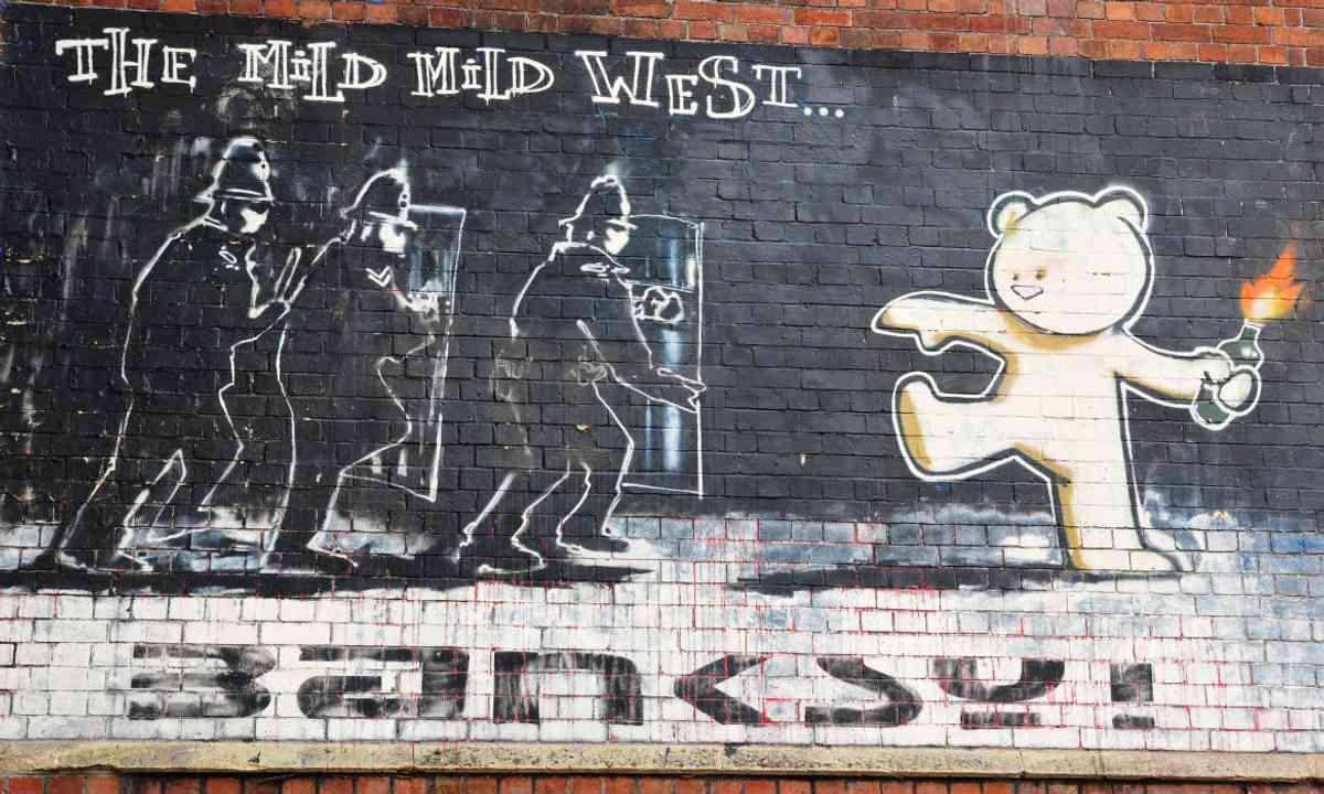 The acclaimed Banksy graffiti piece Mild Mild West (Shutterstock)