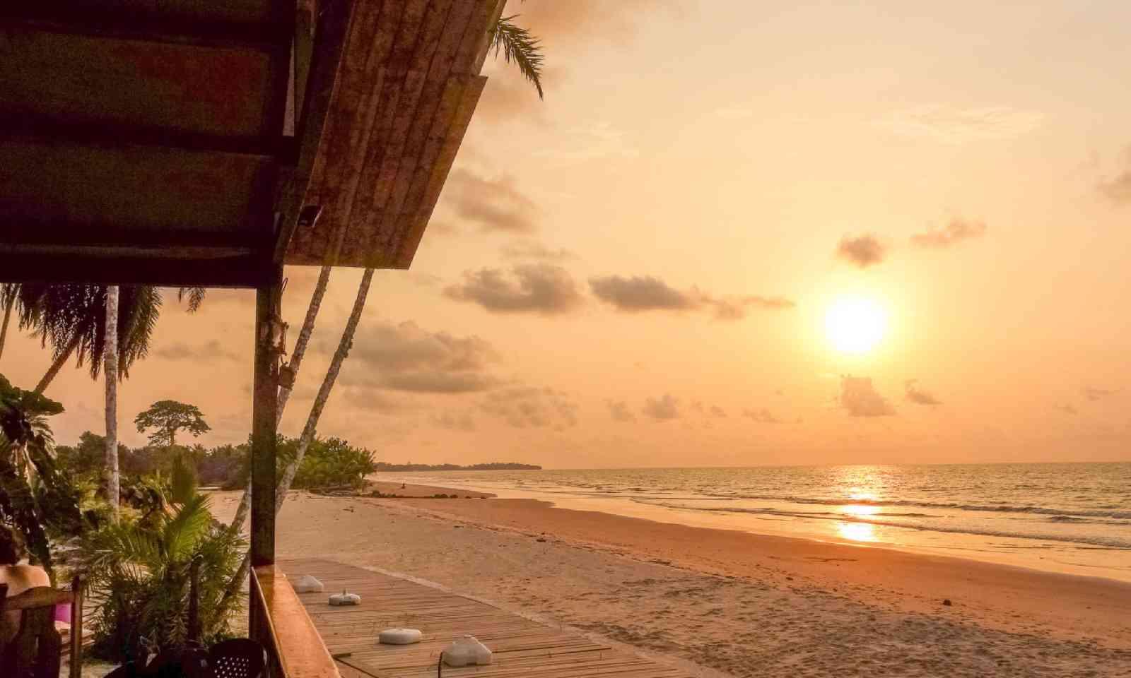 Sunset at Bome beach in Bata in Equatorial Guinea (Shutterstock)