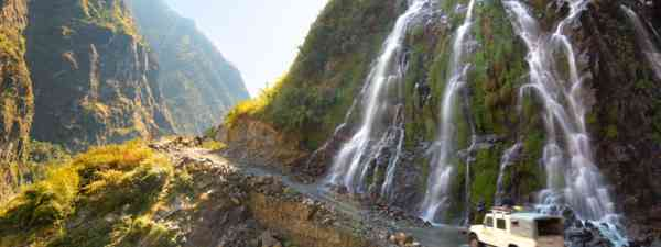 Roadside waterfall, Nepal (Shutterstock)