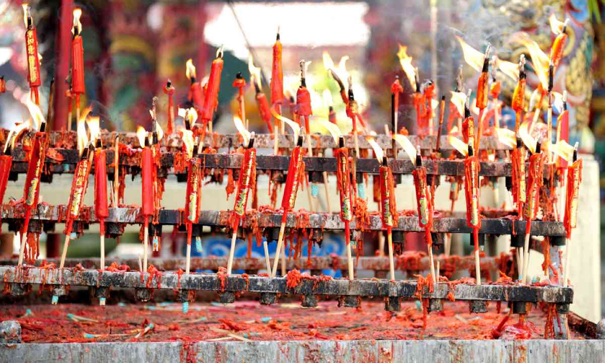 New Year candles in Beijing (Dreamstime)