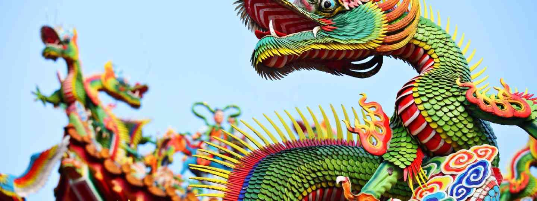 Asian temple dragon (Shutterstock)